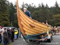 Jay Smith launches Viking boat